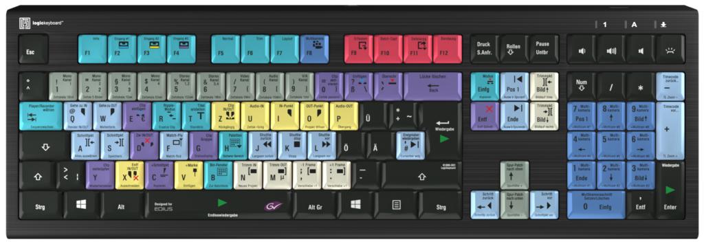 EDIUS Tastatur Version 2 (klicken Sie auf das Bild für eine Vollansicht)