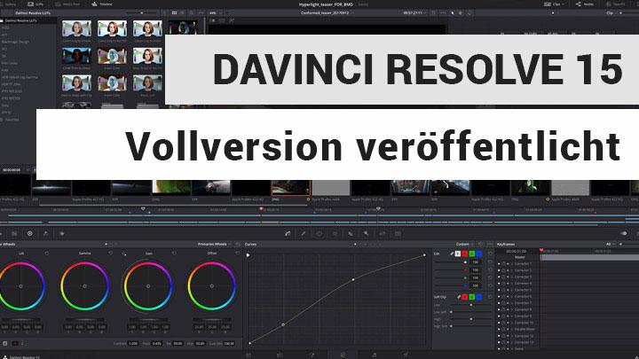 Blackmagic Design hat die Vollversion von DaVinci Resolve 15 veröffentlicht.