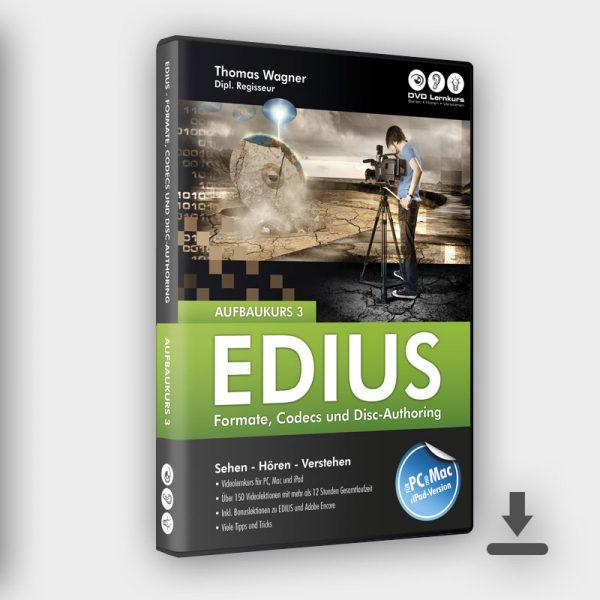 Produktbild Edius Aufbaukurs 3 Download