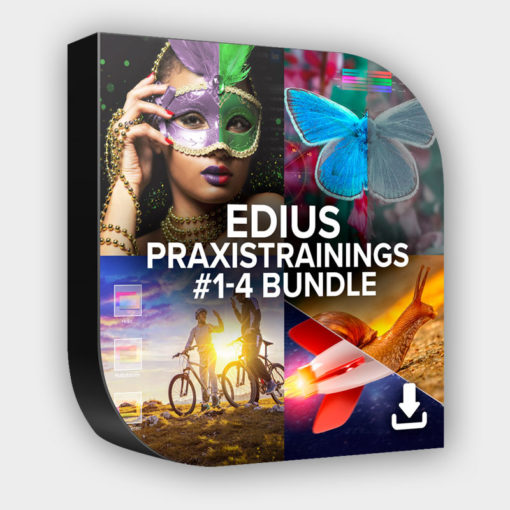 EDIUS Praxistraining #1-4 Set zum Sparpreis (Download)
