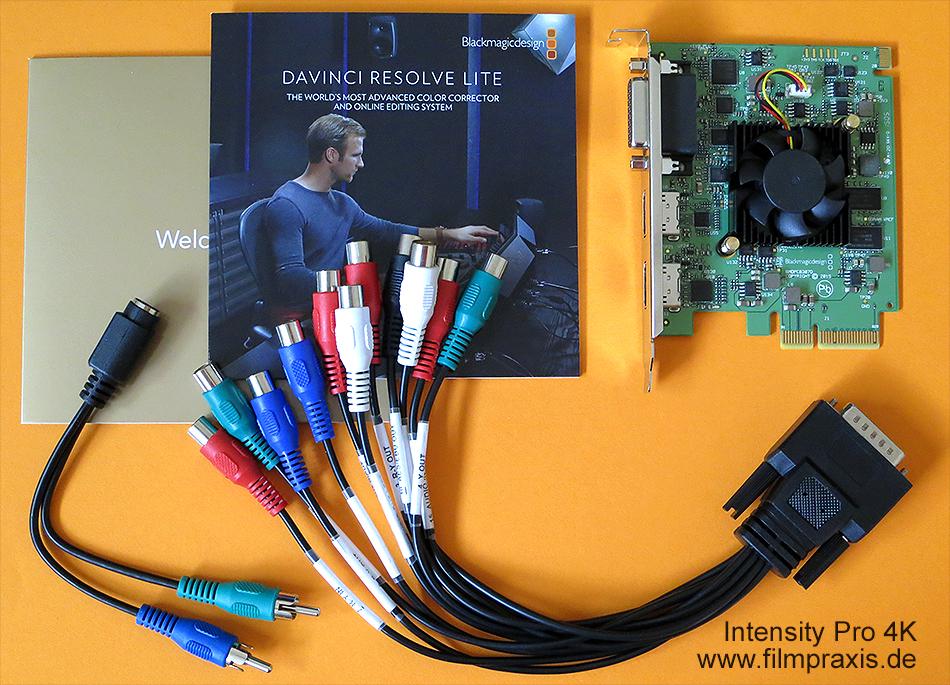 Videoschnittkarte Intensity 4k Pro Von Blackmagic Design Inkl Anleitung