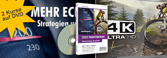 EDIUS - Echtzeit-Leistung, 4K und UHD (Bundle)