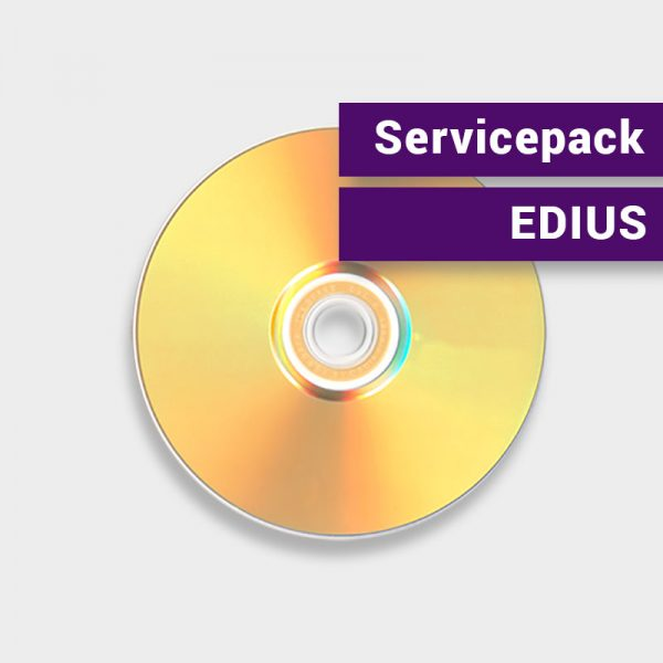 Servicepack mit aktuellster EDIUS-Version auf DVD