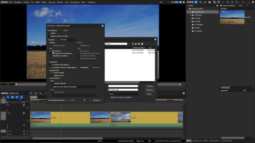Screenshot Videokurs EDIUS Sequenzen